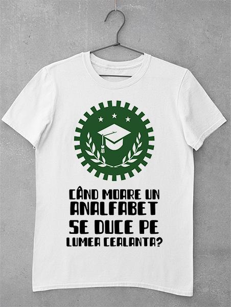 tricou analfabet