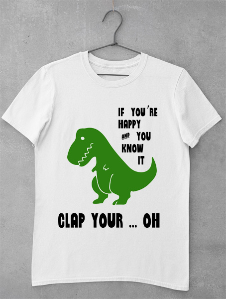 tricou dino clap your hands