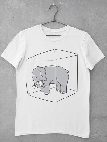 tricou elefantul din camera