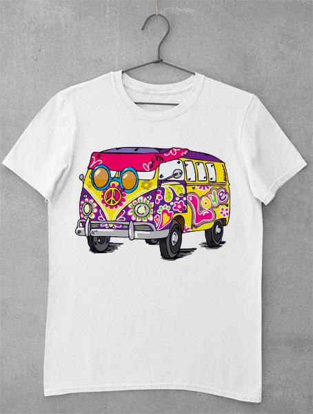 tricou hippie car