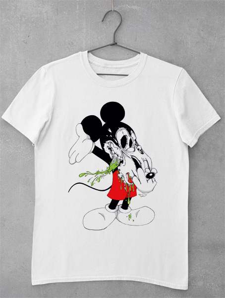 tricou mickey mouse horror