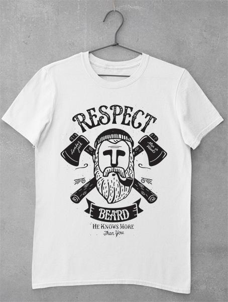 tricou respect beard