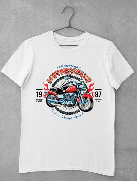 tricou american motorcycle