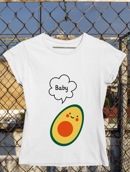tricou baby avocado