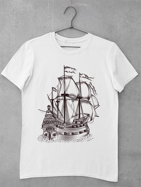 tricou barca vintage 1