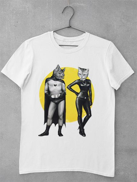 tricou batman si catwoman