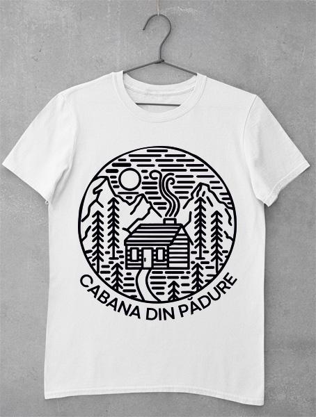 tricou cabana din padure