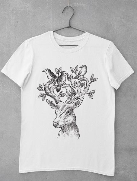 Tricou Deer Design