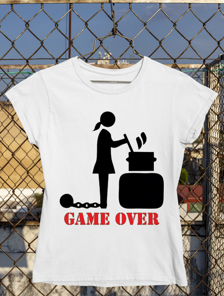 tricou fete game over la cratita