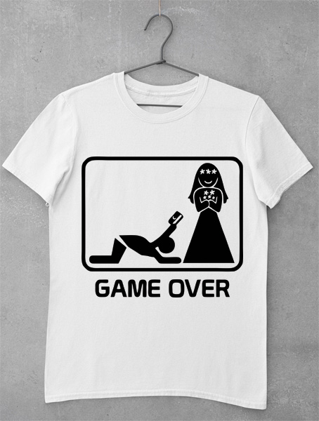 tricou game over credit card