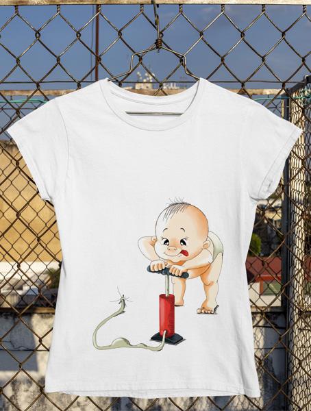 tricou gravida bebe pompa