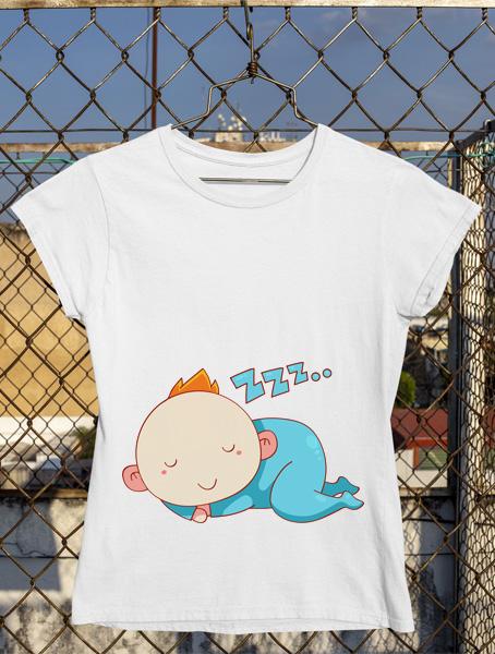 tricou gravida zzz bebe