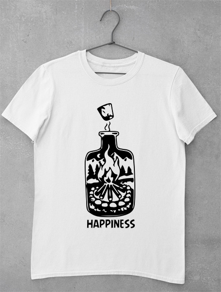 tricou happiness bottle