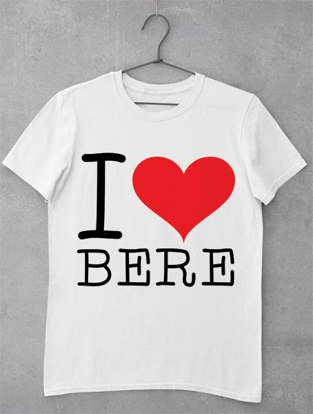 tricou i love bere