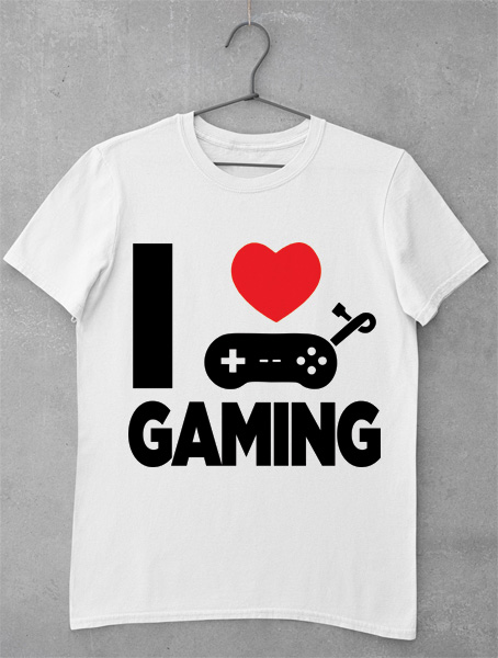 Tricou I Love Gaming