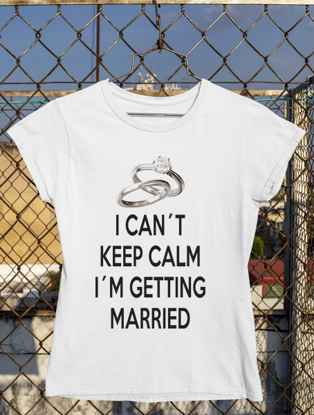 tricou keep calm married