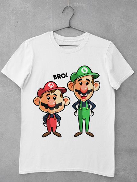 tricou mario brothers