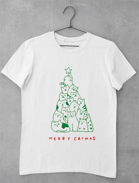 tricou merry catmas