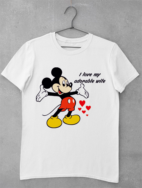 tricou mickey adorable wife