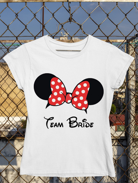 tricou minnie team bride