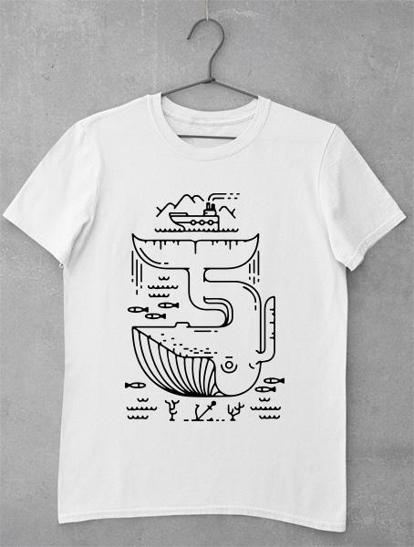 Tricou Modern Design Whale