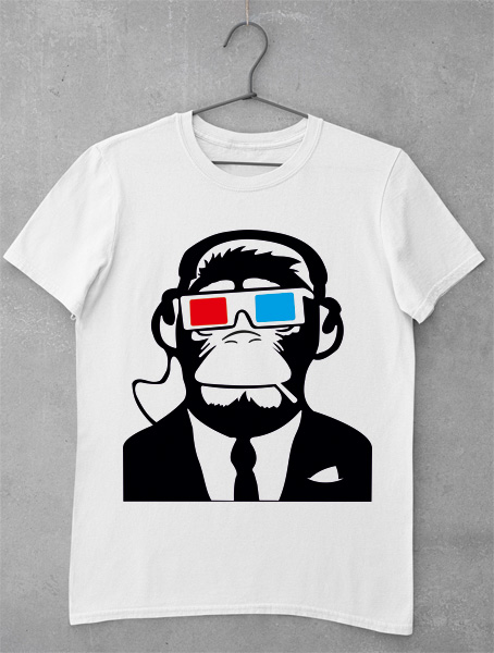 tricou maimuta 3d