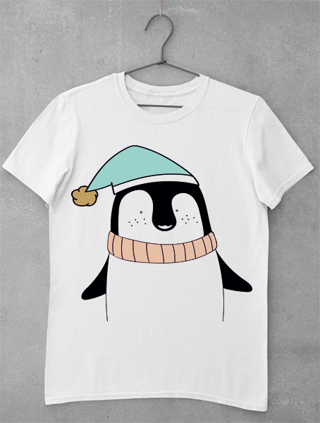 tricou penguin christmas