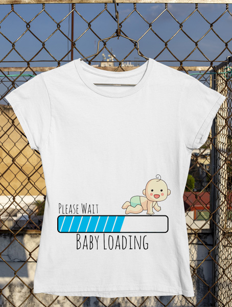 tricou please wait baby loading