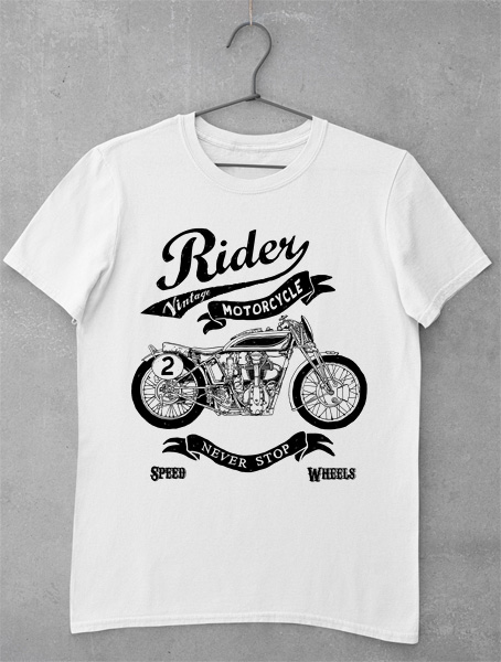 tricou rider vintage motorcycle