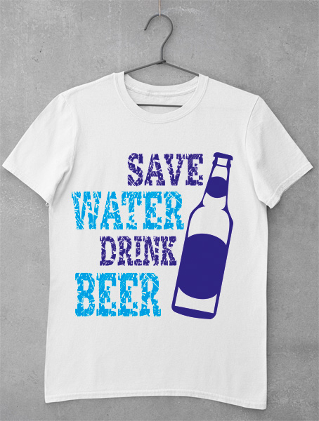 Tricou Save Water Drink Beer