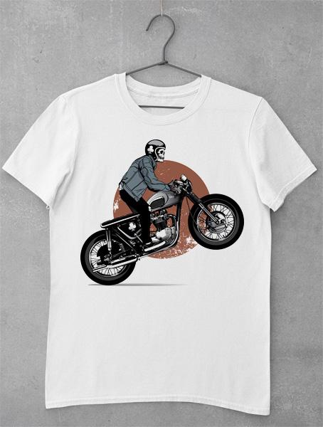 tricou skeleton motor bike