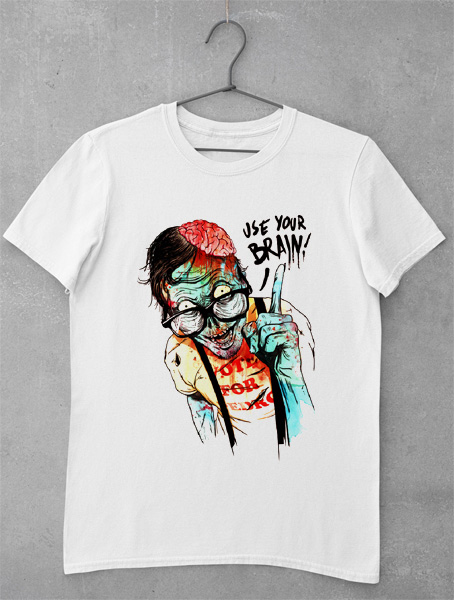 tricou use your brain zombie