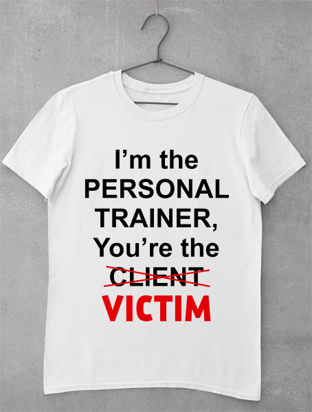 tricou victim personal trainer