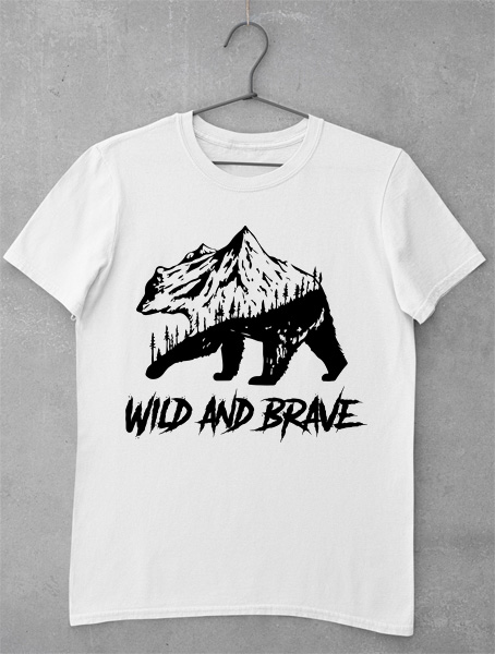 tricou wild and brave