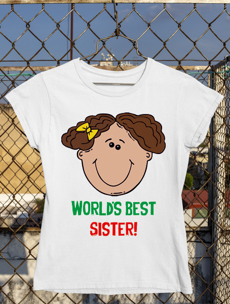 tricou worlds best sister