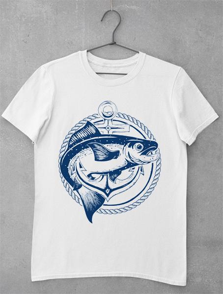 tricouri pescari fish in achor