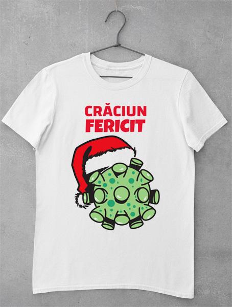 tricou craciun fericit virus