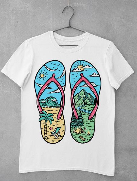 tricou beach mountain sandals