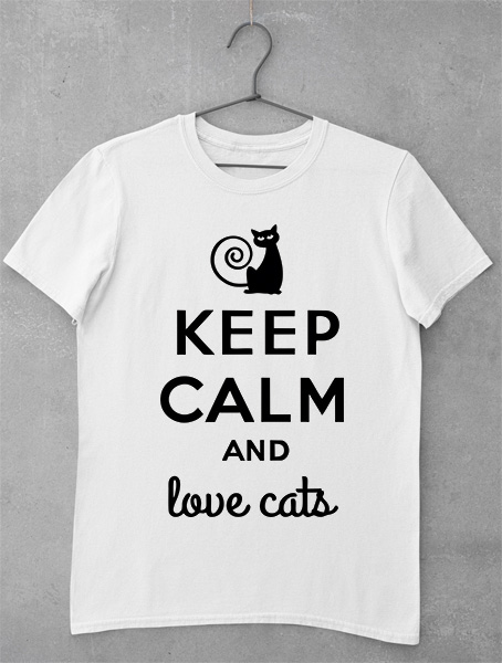 tricou keep calm and love cats
