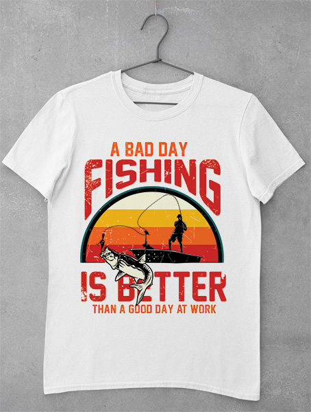 Tricou Pescar - A Bad Day at Fishing