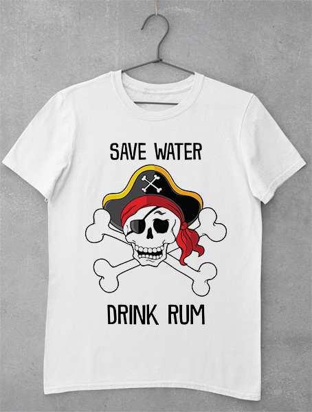 Tricou Save Water Drink Rum
